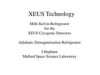 XEUS Technology