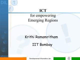 Krithi Ramamritham        IIT Bombay