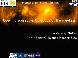 Opening address & Objective of the meeting