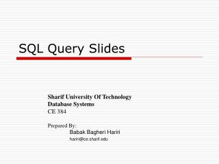 SQL Query Slides
