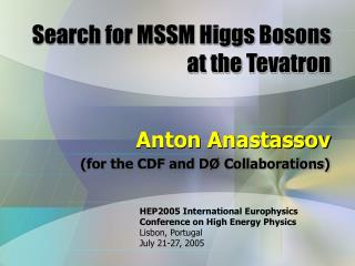 Search for MSSM Higgs Bosons at the Tevatron