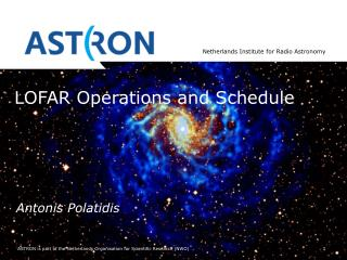 LOFAR Operations and Schedule