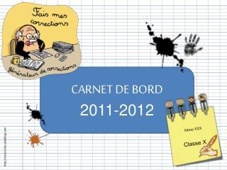 CARNET DE BORD 2011-2012