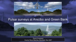 Pulsar surveys at Arecibo and Green Bank