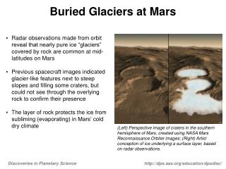 Buried Glaciers at Mars