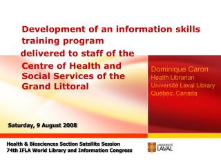 Development of an information skills training program