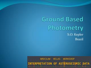 Ground Based Photometry