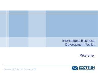International Business Development Toolkit