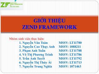 Nhóm sinh viên thực hiện: 1. Nguyễn Văn ToànMSSV: LT11780 2. Nguyễn Cao Thụy AnhMSSV: 1088211
