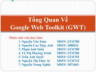 Tổng Quan Về Google Web Toolkit (GWT)