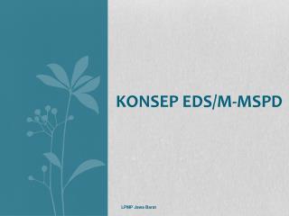 Konsep EDS/M-MSPD