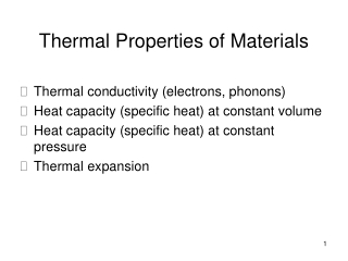 Experiment 9 Specific Heat Capacity of a Metal