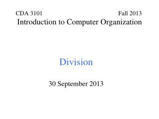 Division 30 September 2013