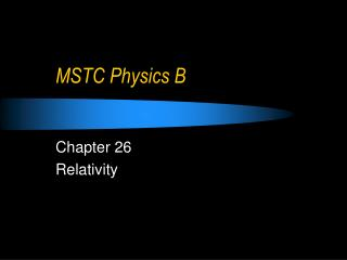 MSTC Physics B