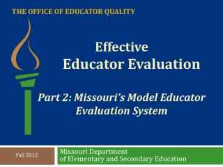 The Office of Educator Quality
