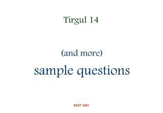 Tirgul 14