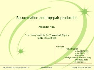 Resummation and top-pair production
