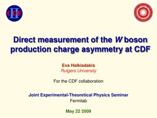 Direct measurement of the  W  boson production charge asymmetry at CDF