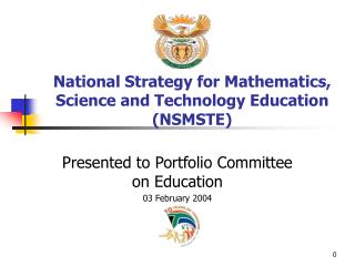 National Strategy for Mathematics, Science and Technology Education (NSMSTE)