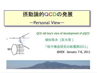 摂動論的 Q C D の発展 - Personal View -