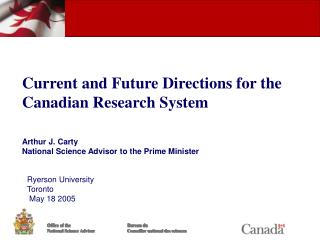 Current and Future Directions for the Canadian Research System