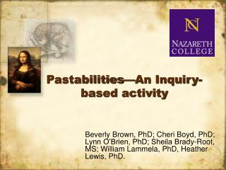 Pastabilities—An Inquiry-based activity
