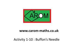 Activity 1-10 : Buffon's Needle
