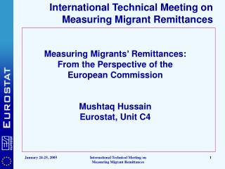 International Technical Meeting on Measuring Migrant Remittances