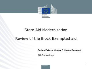 State Aid Modernisation Review of the Block Exempted aid
