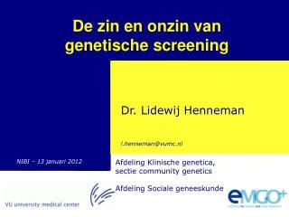 Genetische screening