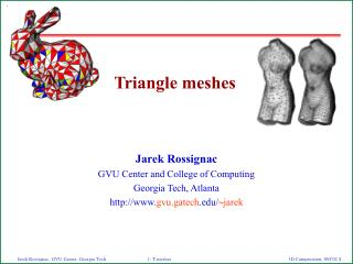 Triangle meshes