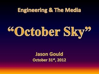 Engineering & The Media