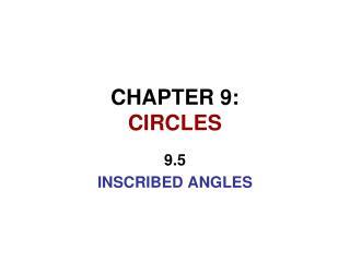 CHAPTER 9: CIRCLES