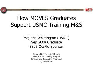 How MOVES Graduates Support USMC Training M&S