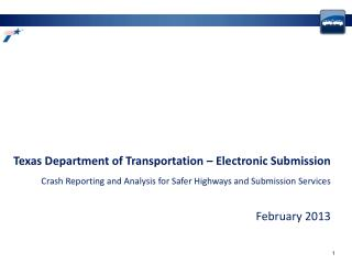 Texas Department of Transportation � Electronic Submission