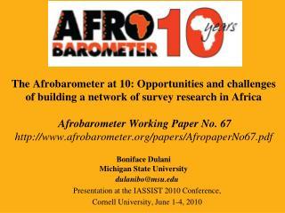 dulanibo@msu Presentation at the IASSIST 2010 Conference,  Cornell University, June 1-4, 2010