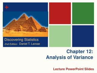 Chapter 12: Analysis of Variance