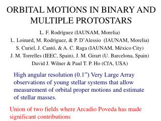ORBITAL MOTIONS IN BINARY AND MULTIPLE PROTOSTARS