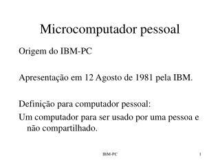 Microcomputador pessoal