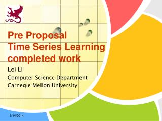 Pre Proposal Time Series Learning completed work