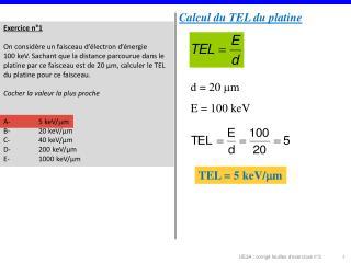Exercice n°1 On considère un faisceau d'électron d'énergie