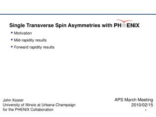 Single Transverse Spin Asymmetries with