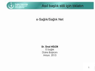 e-Sağlık/Sağlık Net