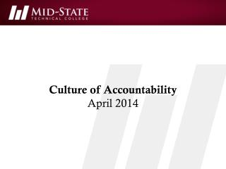 Culture of Accountability April 2014