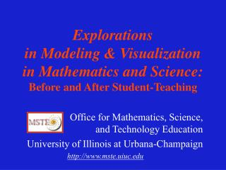 Office for Mathematics, Science, and Technology Education