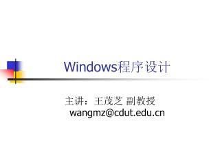 Windows 程序设计