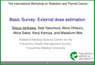 Basic Survey: External dose estimation