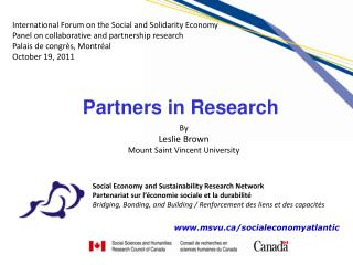 Social Economy and Sustainability Research Network