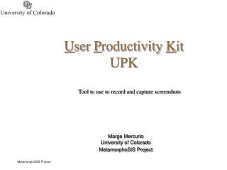 User Productivity Kit UPK