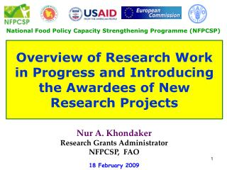 National Food Policy Capacity Strengthening Programme (NFPCSP)